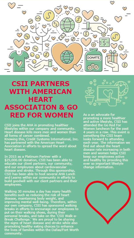 CSII Goes Red for Women - AHA
